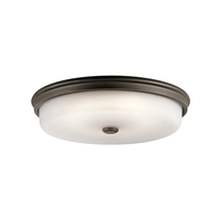 Kichler 43876OZLED Signature 1 Light 18 inch Olde Bronze Flush Mount Ceiling Light, Dimmable
