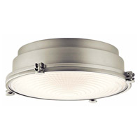 Kichler 43883NILEDR Hatteras Bay LED 13 inch Brushed Nickel Flush Mount Ceiling Light