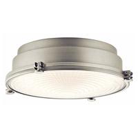 Kichler 43883NILEDR Hatteras Bay LED 13 inch Brushed Nickel Flush Mount Ceiling Light