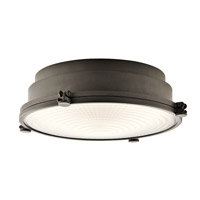 Kichler Hatteras Bay 1 Light Flush Mount in Olde Bronze 43883OZLED