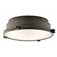 Kichler 43883OZLEDR Hatteras Bay LED 13 inch Olde Bronze Flush Mount Ceiling Light
