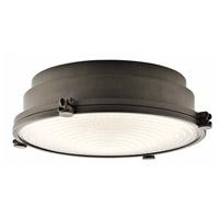 Kichler 43883OZLEDR Hatteras Bay LED 13 inch Olde Bronze Flush Mount Ceiling Light