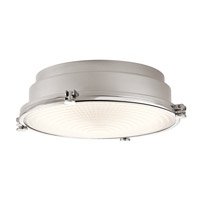 Hatteras Bay 1 Light 13 inch Polished Nickel Flush Mount Ceiling Light