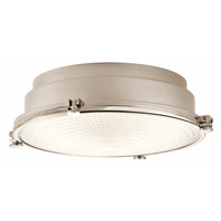 Kichler 43883PNLEDR Hatteras Bay LED 13 inch Polished Nickel Flush Mount Ceiling Light