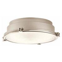 Kichler 43883PNLEDR Hatteras Bay LED 13 inch Polished Nickel Flush Mount Ceiling Light