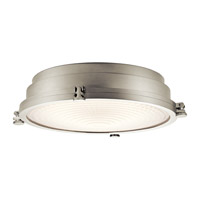 Kichler Hatteras Bay 1 Light Flush Mount in Brushed Nickel 43885NILED
