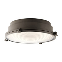 Kichler 43885OZLED Hatteras Bay 1 Light 18 inch Olde Bronze Flush Mount Ceiling Light