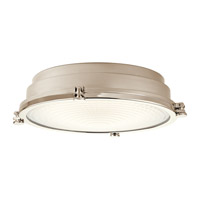 Kichler Hatteras Bay 1 Light Flush Mount in Polished Nickel 43885PNLED