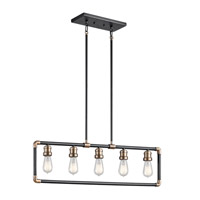 Imahn 5 Light 2 inch Black Chandelier Ceiling Light