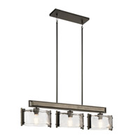 Kichler 43896OZ Aberdeen 3 Light 43 inch Olde Bronze Linear Chandelier Ceiling Light, Single
