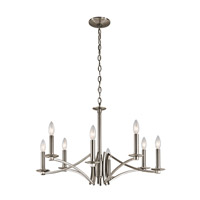 Kichler 43907CLP Grayson 8 Light 28 inch Classic Pewter Chandelier Ceiling Light