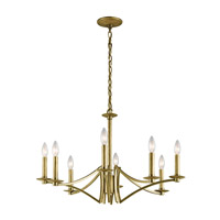 Kichler Grayson 8 Light Chandelier in Natural Brass 43907NBR