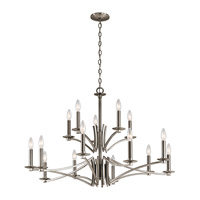 Kichler 43908CLP Grayson 15 Light 36 inch Classic Pewter Chandelier Ceiling Light