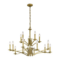 Grayson 15 Light 36 inch Natural Brass Chandelier Ceiling Light
