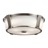 Kichler 43909CLP Signature 2 Light 17 inch Classic Pewter Flush Mount Ceiling Light