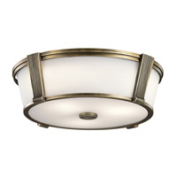 Signature 2 Light 17 inch Natural Brass Flush Mount Ceiling Light