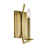 Grayson 1 Light 5 inch Natural Brass Wall Bracket Wall Light