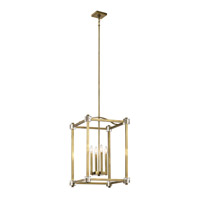 Cayden 4 Light 17 inch Natural Brass Foyer Pendant Ceiling Light