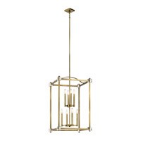 Cayden 8 Light 20 inch Natural Brass Foyer Pendant Ceiling Light