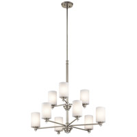 Kichler 43924NI Joelson 9 Light 32 inch Brushed Nickel Chandelier Ceiling Light in Standard