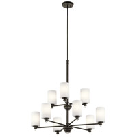 Kichler 43924OZ Joelson 9 Light 32 inch Olde Bronze Chandelier Ceiling Light