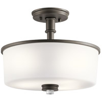 Kichler 43926OZ Joelson 3 Light 14 inch Olde Bronze Semi Flush Mount Ceiling Light in Standard