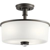 Kichler 43926OZL18 Joelson LED 14 inch Olde Bronze Flush Mount Light Ceiling Light