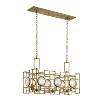 Vance 8 Light 13 inch Natural Brass Chandelier Ceiling Light