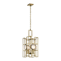 Kichler Vance 4 Light Foyer Pendant in Natural Brass 43933NBR