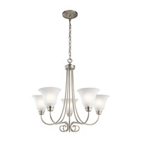 Kichler 43938NI Bixler 5 Light 26 inch Brushed Nickel Chandelier Ceiling Light in Standard