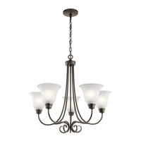 Kichler 43938OZ Bixler 5 Light 26 inch Olde Bronze Chandelier Ceiling Light in Standard