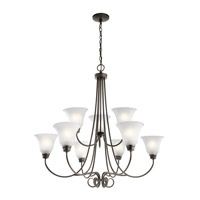 Kichler 43939OZ Bixler 9 Light 35 inch Olde Bronze Chandelier Ceiling Light in Standard