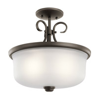 Kichler 43942OZ Bixler 2 Light 14 inch Olde Bronze Inverted Pendant Ceiling Light in Standard