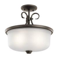 Kichler 43942OZ Bixler 2 Light 14 inch Olde Bronze Inverted Pendant Ceiling Light