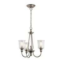 Kichler 43945CLP Waverly 3 Light 22 inch Classic Pewter Chandelier Ceiling Light, Small