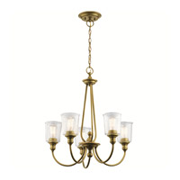Kichler 43946NBR Waverly 5 Light 26 inch Natural Brass Chandelier Ceiling Light, Medium