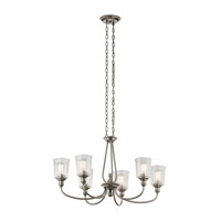 Kichler 43947CLP Waverly 6 Light 20 inch Classic Pewter Chandelier Ceiling Light, Large, Oval