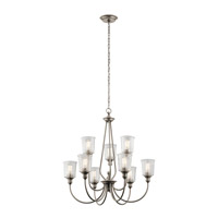 Kichler 43948CLP Waverly 9 Light 32 inch Classic Pewter Chandelier Ceiling Light
