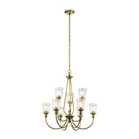 Waverly 9 Light 32 inch Natural Brass Chandelier Ceiling Light