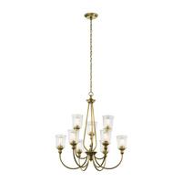Kichler 43948NBR Waverly 9 Light 32 inch Natural Brass Chandelier Ceiling Light