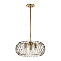 Kichler 43958NBR Devin 3 Light 18 inch Natural Brass Pendant Ceiling Light