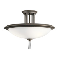 Kichler 43960OZ Dreyfus 3 Light 17 inch Olde Bronze Semi Flush Mount Ceiling Light