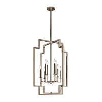 Downtown Deco 8 Light 24 inch Polished Nickel Chandelier Ceiling Light
