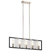 Kichler 43977BK Forge 5 Light 9 inch Black Chandelier Ceiling Light
