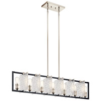 Kichler 43978BK Forge 7 Light 9 inch Black Chandelier Ceiling Light