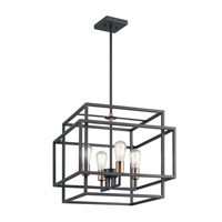 Kichler 43984BK Taubert 4 Light 18 inch Black Pendant Ceiling Light