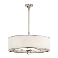 Melrose 4 Light 24 inch Brushed Nickel Semi Flush Mount Ceiling Light