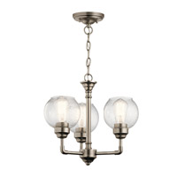 Kichler 43992AP Niles 3 Light 16 inch Antique Pewter Chandelier Ceiling Light
