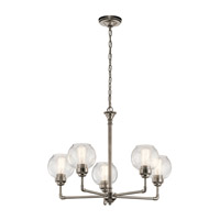 Kichler 43993AP Niles 5 Light 26 inch Antique Pewter Chandelier Ceiling Light, Medium