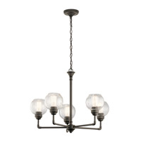 Kichler 43993OZ Niles 5 Light 26 inch Olde Bronze Chandelier Ceiling Light, Medium